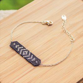 bracelet aztec argent noir