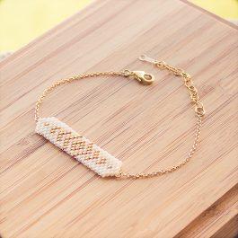 bracelet aztec doré creme
