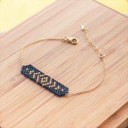 bracelet aztec doré noir