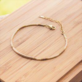 bracelet cherokee doré creme