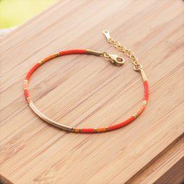 bracelet cherokee doré orange