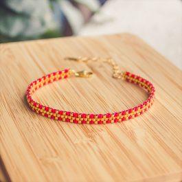 bracelet inca rouge