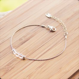 bracelet mia argent cristal de roche