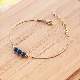bracelet mia doré lapis lazuli