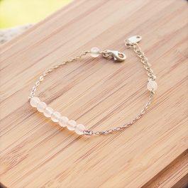 bracelet mila argent quatz rose