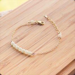 bracelet mila doré amazonite