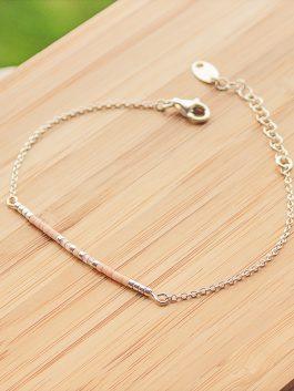 bracelet siou argent rose