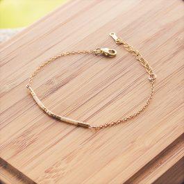 bracelet siou doré creme
