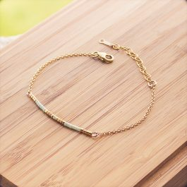 bracelet siou doré menthe