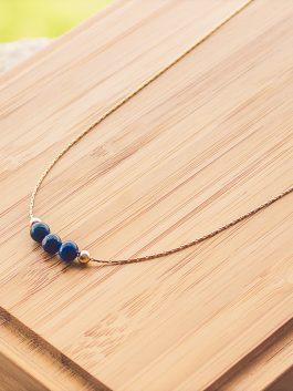 collier mia doré lapis lazuli