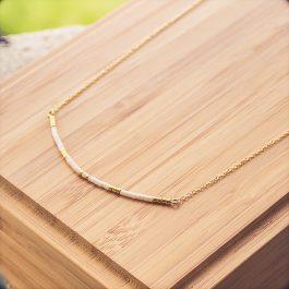 collier siou doré blanc