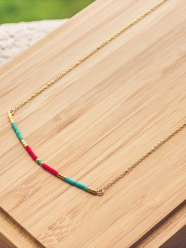 collier siou turquoise rouge